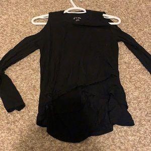 Black Art Class Shirt L Holes In Shoulders